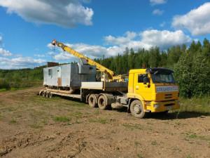 Перевозка строительной бытовки