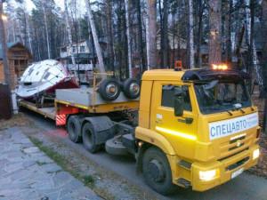 Перевозка яхты по маршруту г. Челябинск – г. Екатеринбург
