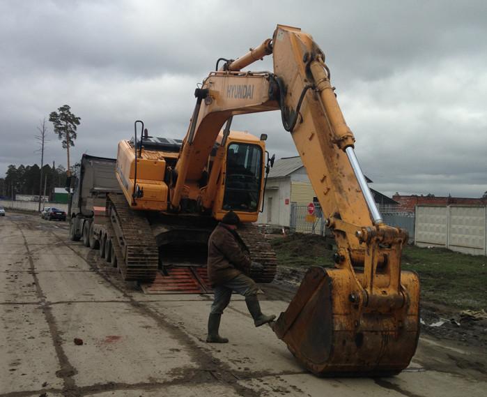 Перевозка экскаватора 25 тонн Hyundai R-250-7